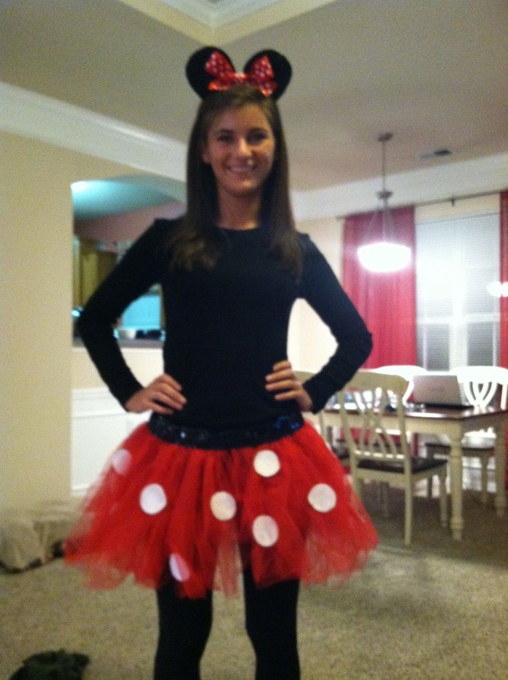 DIY Minnie Mouse Costume Adults | Homemade Minnie Mouse costume! | Halloween. I little more practical for Wisconsin weather  sc 1 st  Pinterest : homemade costume for adults  - Germanpascual.Com