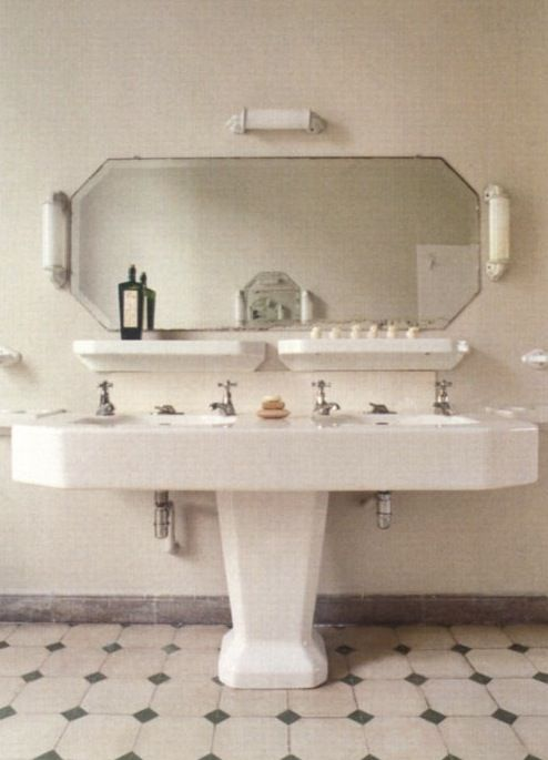 Bathroom Sinks Double Basin great design for a pedestal sink - double basin! | making it look