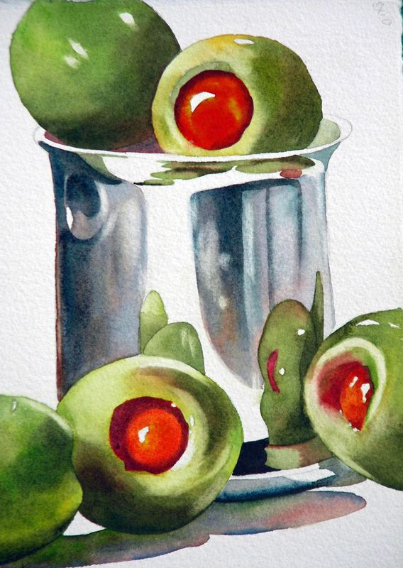 Inapiration for sketch a day ~ day 61 Green — Anne Abgott | Award-Winning Watercolor Artist
