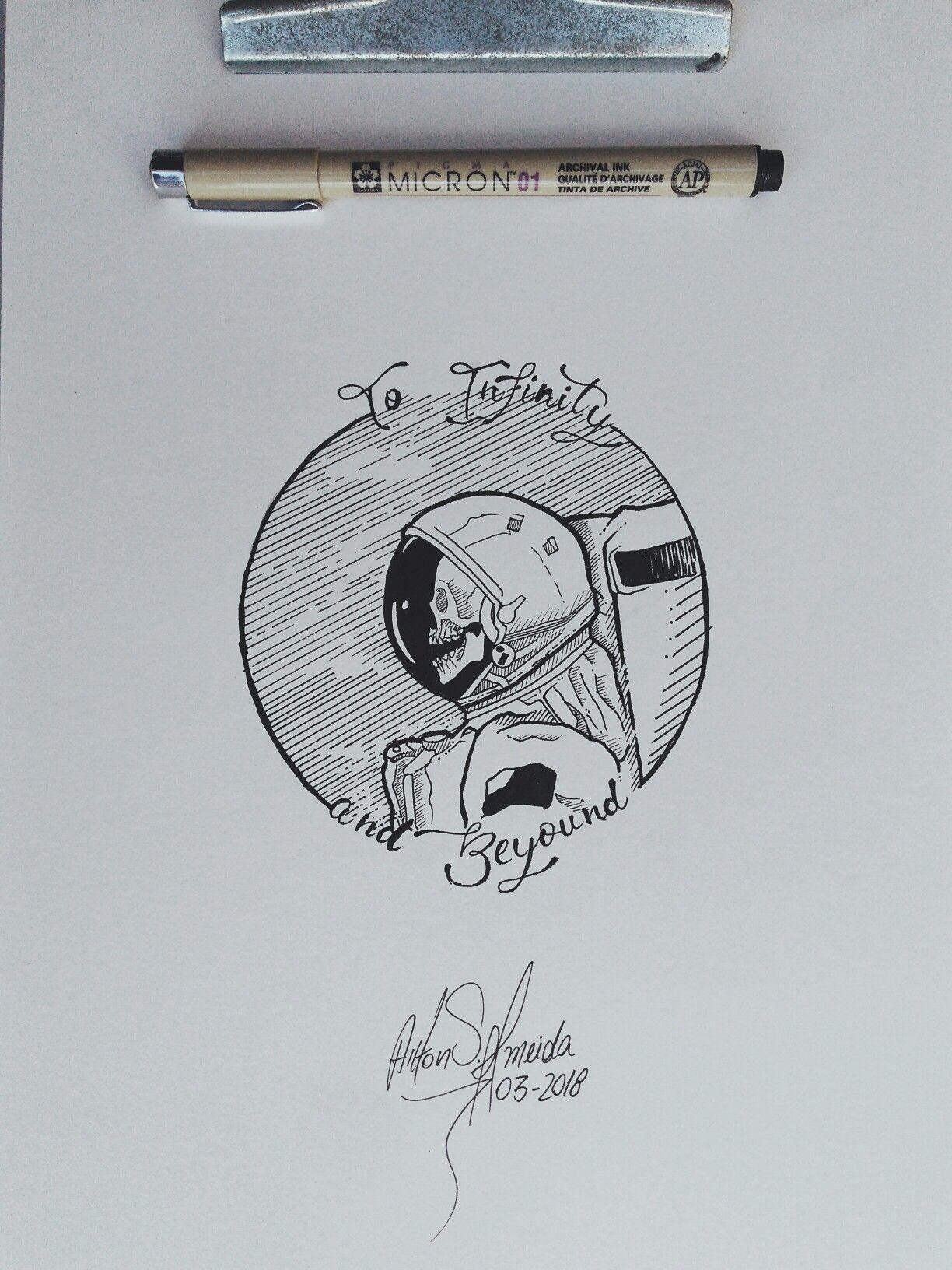 Skull Astronaut Illustration Sketch In 2019 рисование эскизов