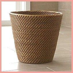 basket and crate     Großes Bild von Sedona Honey Tapered Waste Basket  Mülleimer  basket and crate