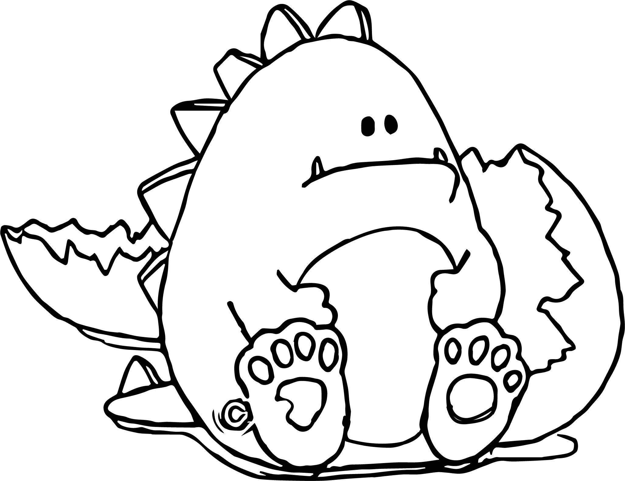 Cool Broken Egg Baby Dinosaur Coloring Page Wecoloringpage