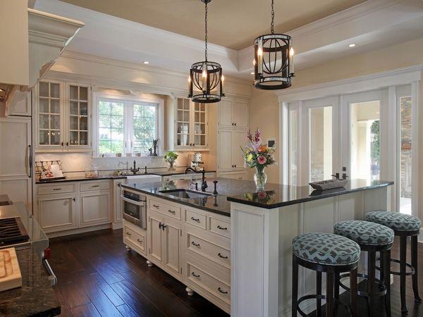 Uba tuba granite with white cabinets white backsplash kitchen ...