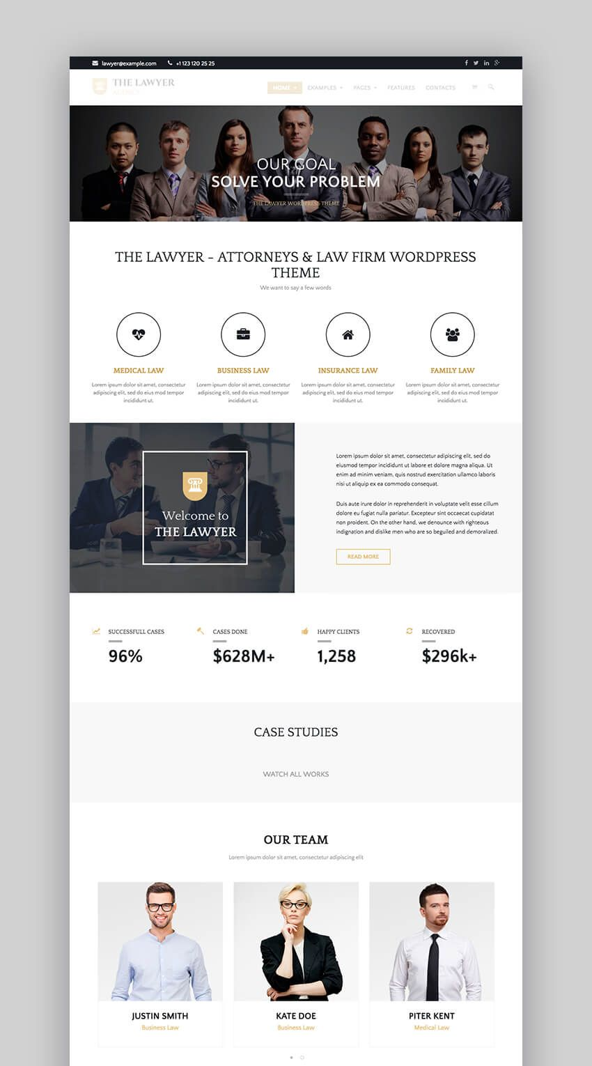 17 Best Lawyer Wordpress Themes For 2017 Law Firm Attorney Websites Law Firm Website Design Law Firm Website Lawyer Website Design