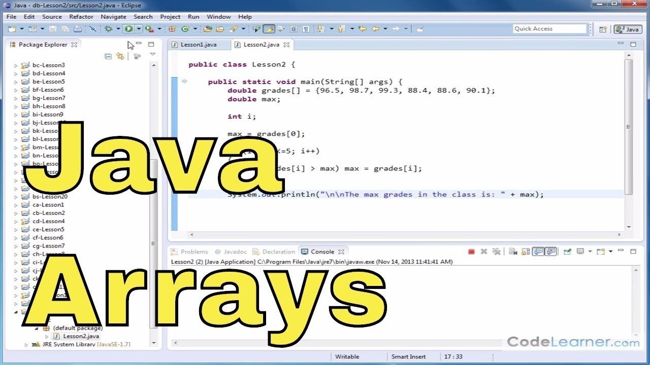 Java Programming Tutorial 28 Creating An Array Table In 2020