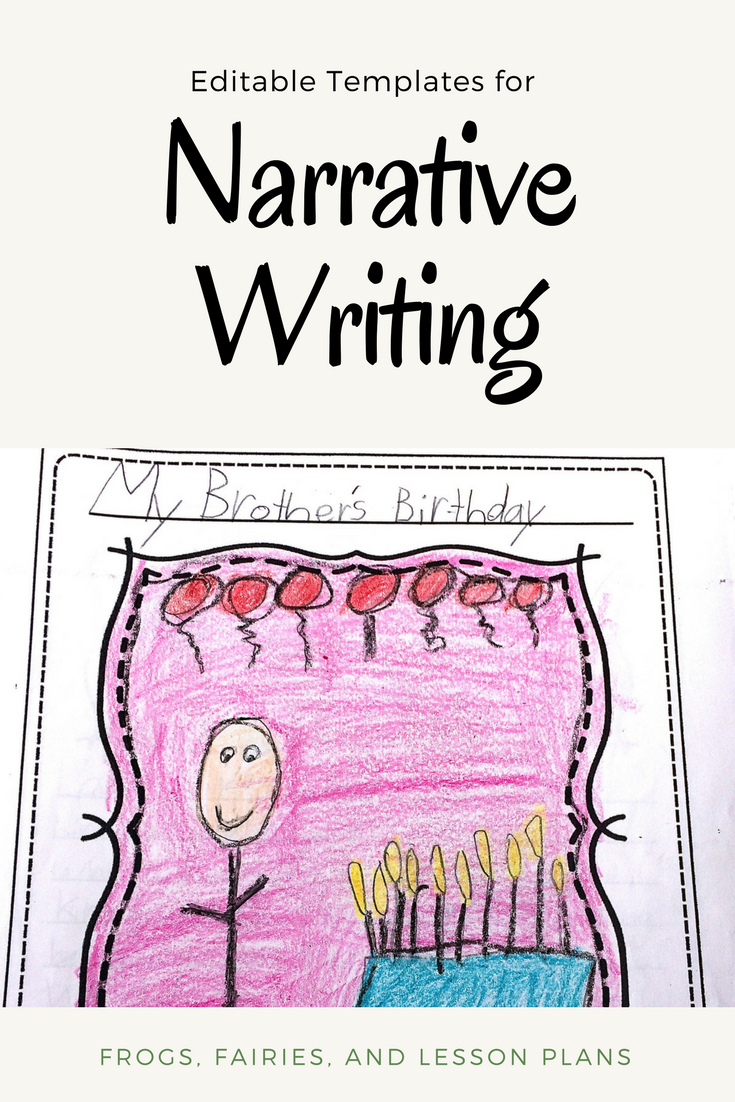 personal narrative writing - graphic organizers and editable
