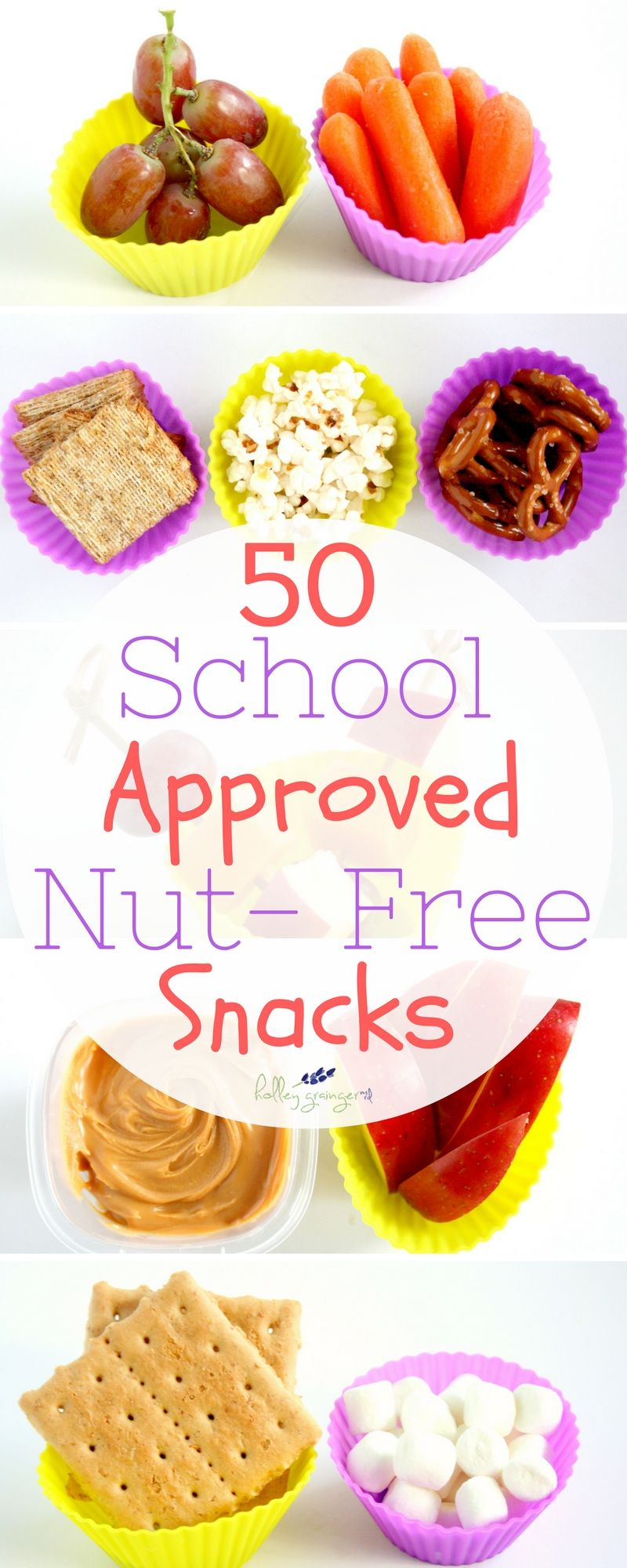 50+ Nut-Free Snacks for School If your school is now a Nut-Free Zone, don't panic because I have 50…