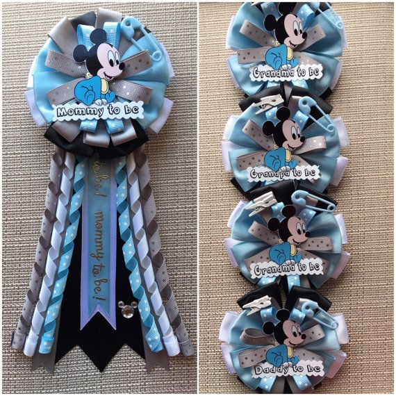 Baby Mickey Mouse Inspired Baby Shower Corsage Baby Showers De