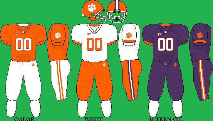 Clemson Uniform Team Uniforms Football Uniforms Fall