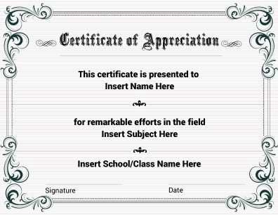 Certificate Of Appreciation With Floral Theme Fully It Is Fully