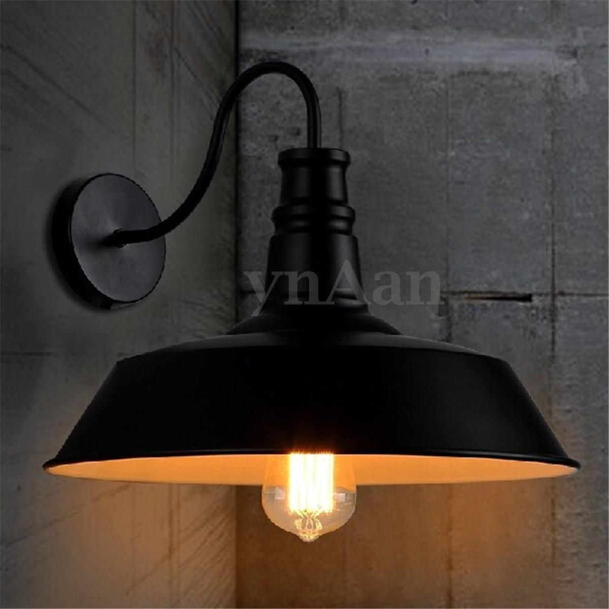 Vintage retro iron industrial loft cafe rustic wall sconce light vintage retro iron industrial loft cafe rustic wall sconce light home bowl lamp amipublicfo Images