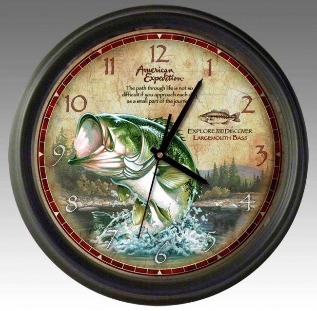 Largemouth Bass 16 Inch Wall Clockfor 29 99 Wall Clock Clock Wall