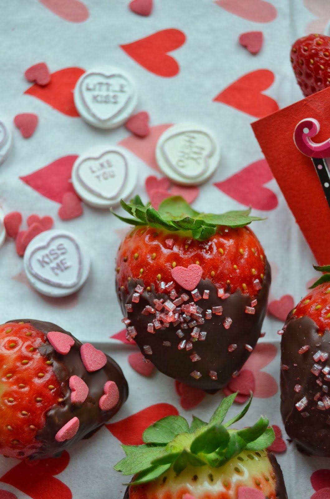 ...Romantiske Stinemor...: Valentines jordbær
