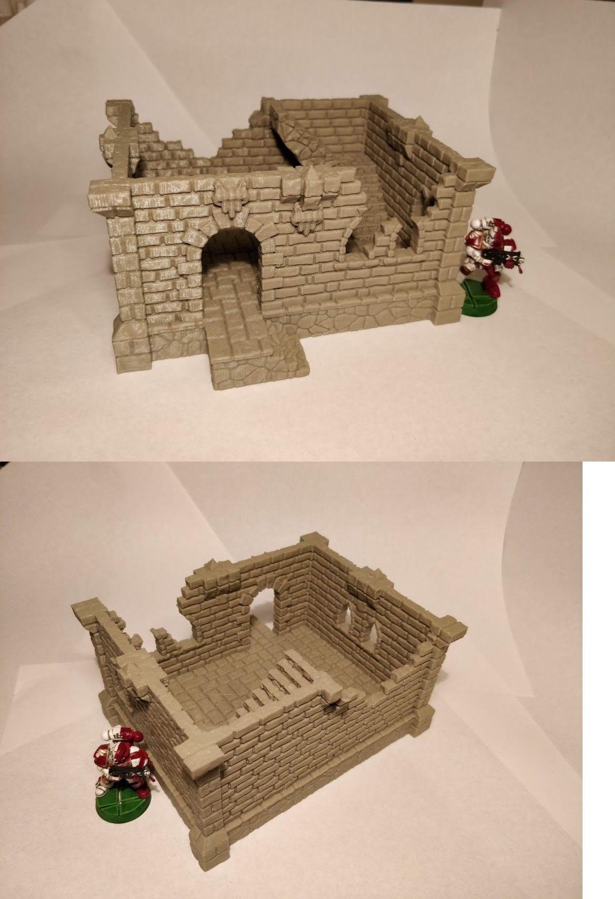 Terrain and Scenery 177640: Fantasy Castle Ruins 40K Star Wars