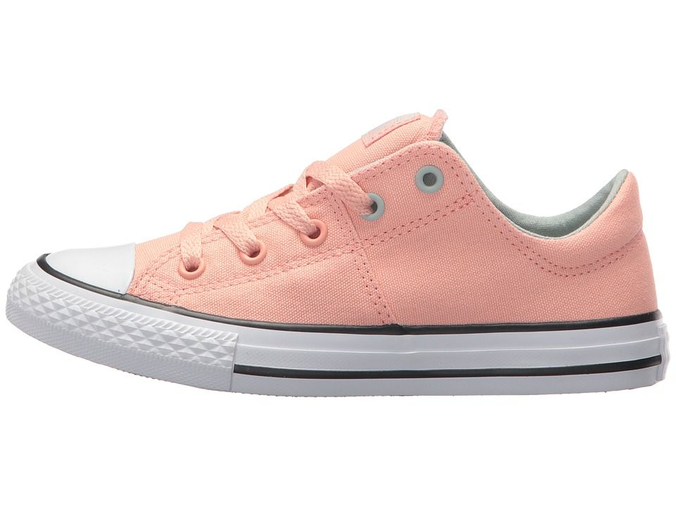 dd82939d6494 Converse Kids Chuck Taylor All Star Madison Ox (Little Kid Big Kid) Girl s  Shoes Pale Coral Dried Bamboo White