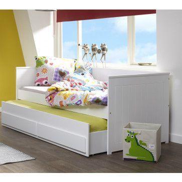 Lit Gigogne Avec Tiroir 90x200 Coloris Blanc Lit Gigogne Lit Gigogne Blanc Decoration Chambre Ado
