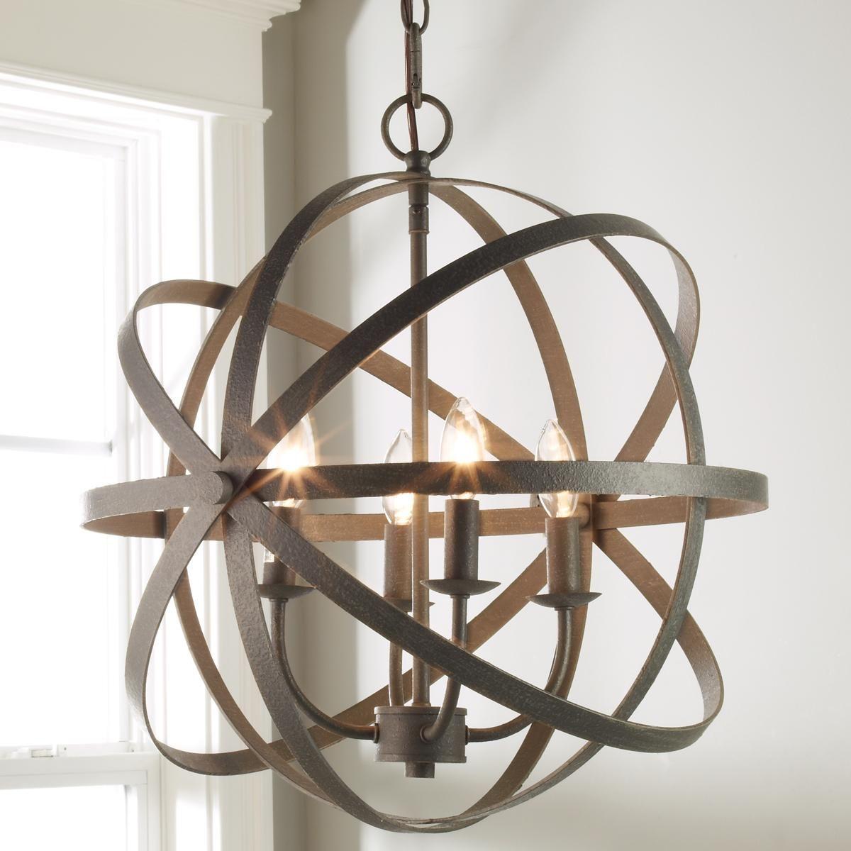Orbit Globe Chandelier 4 Light Modern Lighting Chandeliers