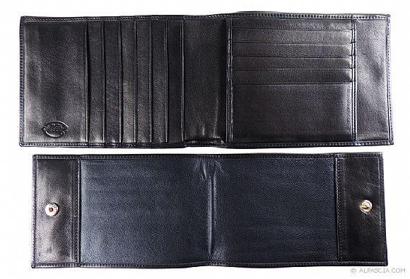 Wallet Bi-Fold AP392 - Black - 002 - Bi-Fold AP392 - Black - www.alpascialeather.com