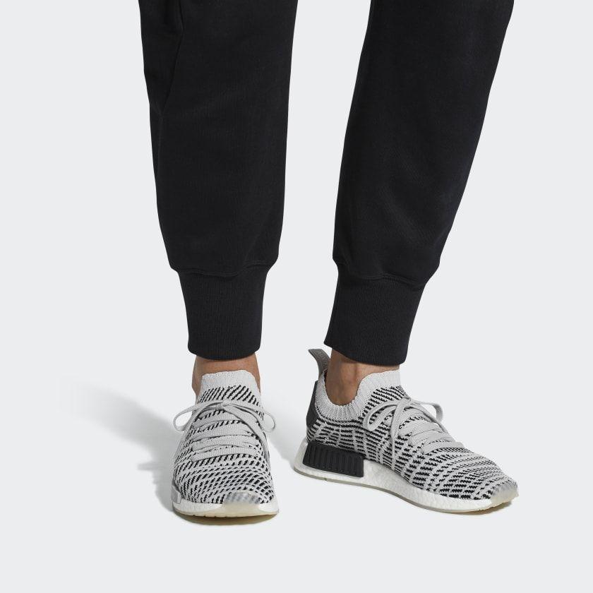b87363a3a8fca NMD R1 STLT Primeknit Shoes Grey CQ2387 Adidas Nmd R1