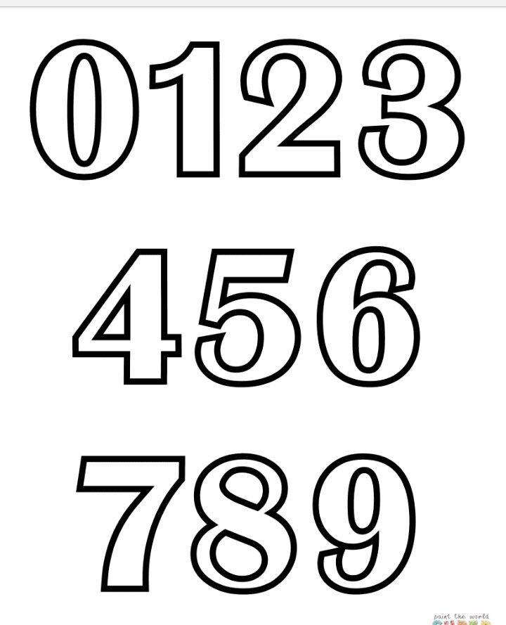 Numbers 0 9 Coloring Pages Lettering Abc Coloring Pages
