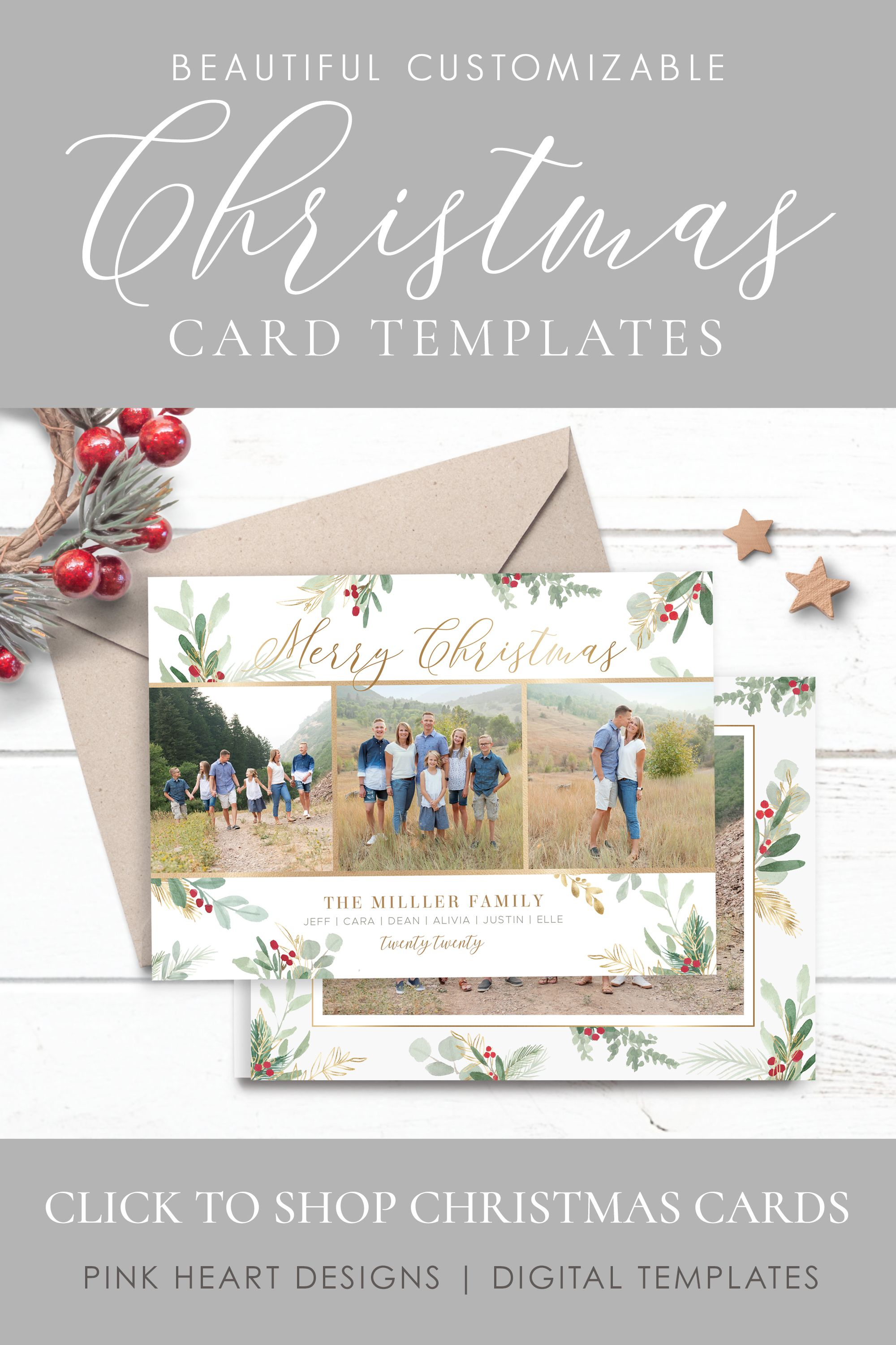 Christmas Card Template Christmas Cards Template 5x7 Photo Etsy Holiday Card Template Christmas Card Template Christmas Photo Cards