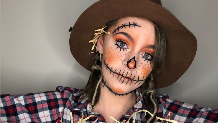 SCARECROW MAKEUP   COSTUME TUTORIAL #scarecrowmakeup