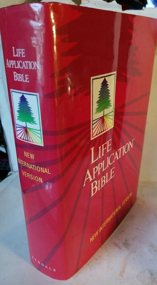 Tyndale Life Application Bible NIV 1991 Hard Cover Red w
