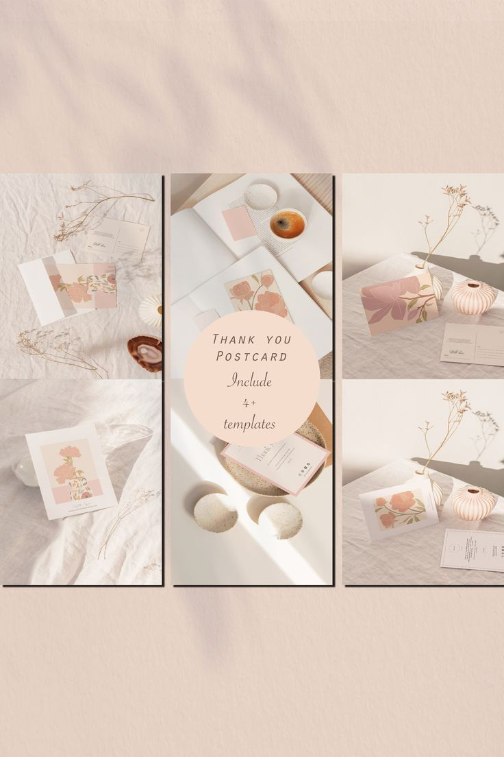 The Ultimate Business Thank You Card, Canva Editable, Thank You Card Business Template (4 Templates)