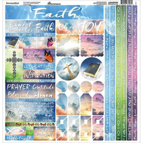 His Word Devoted Faith 2-12X12 Scrapbook Papers by Reminisce 5 sheets