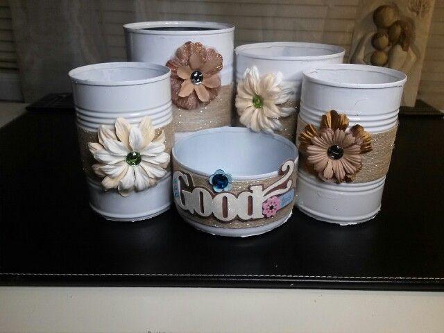 Latas decoradas zarah lavariega reciclado pinterest - Reciclar latas de conserva ...