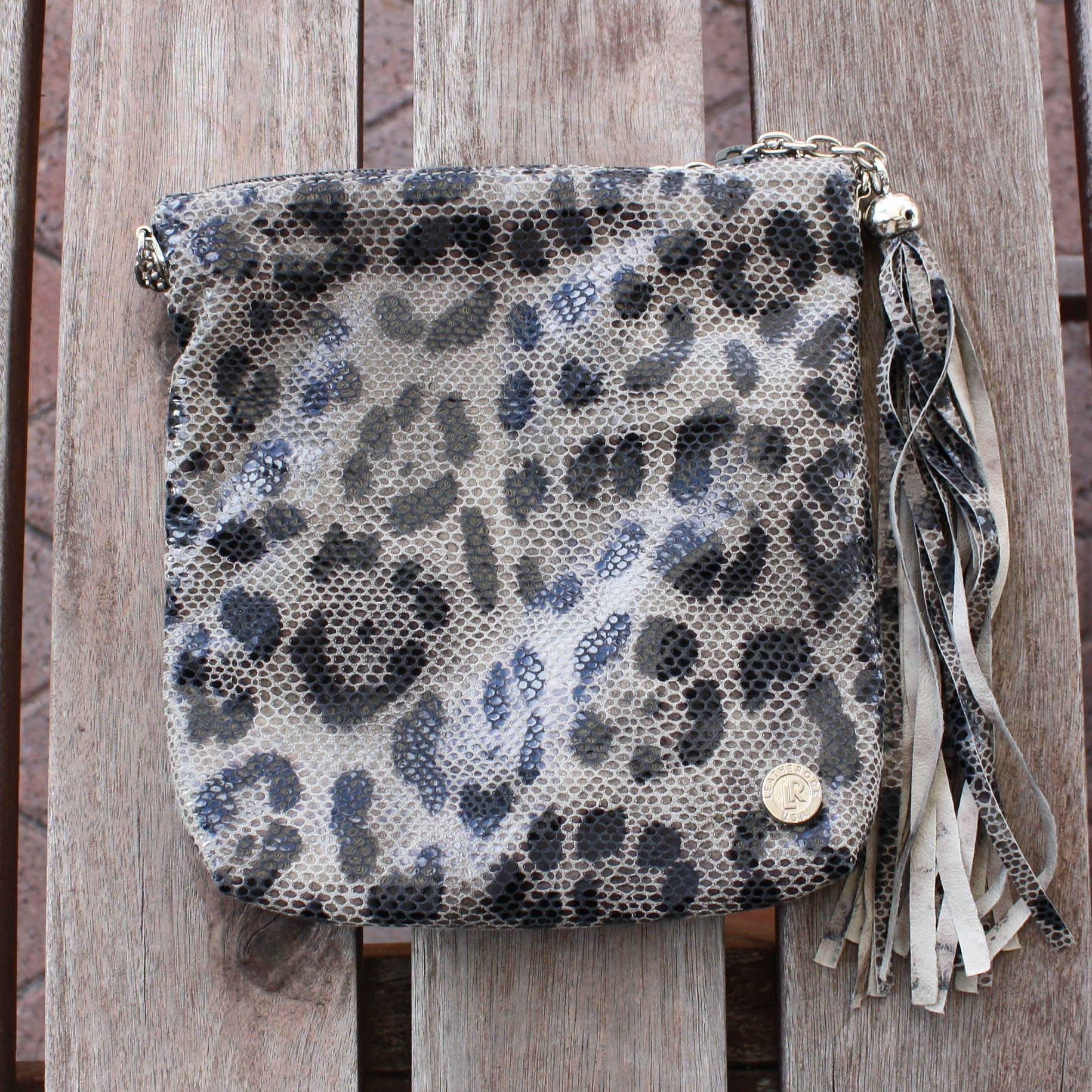 LEATHEROCK Cheetah Messenger Bag