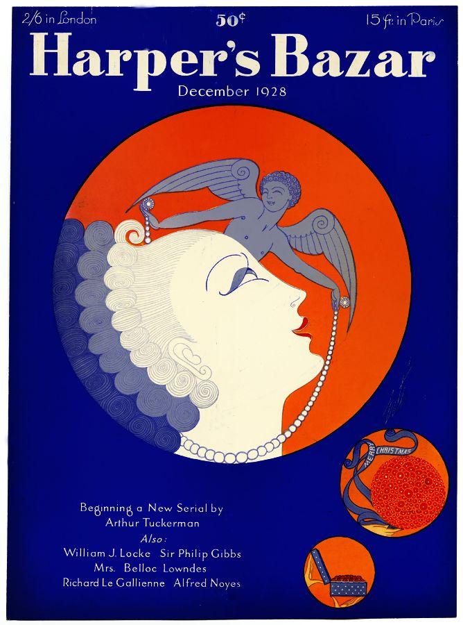 Harpers Bazaar 1928 Cover Art By Erte