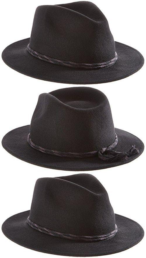 77d6990682cf4 Brixton Women s Corbet Fedora Black Hat MD (7 1 4) Black Hats