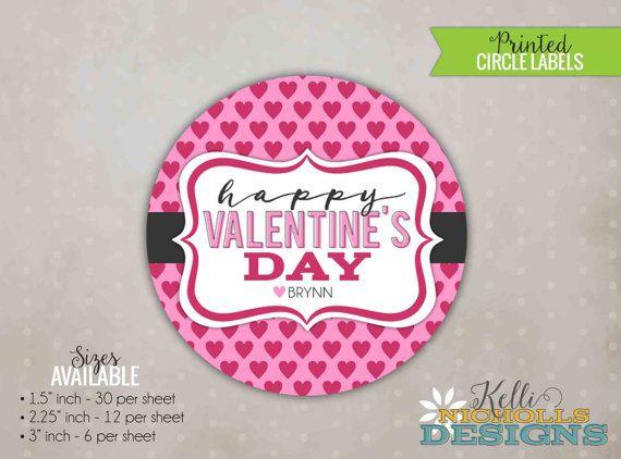 Happy Valentine\u0027s Day Custom Personalized Valentine Stickers, Custom