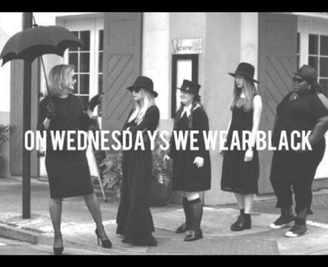 Wednesday Wear black