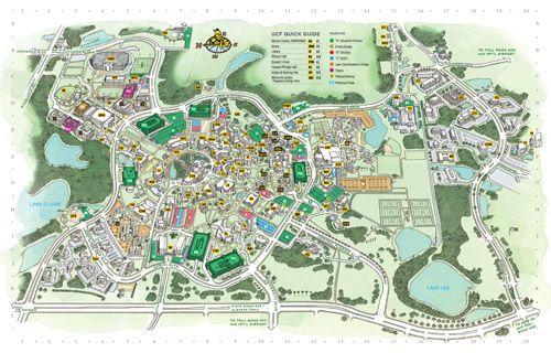 ucf orlando campus map Ucf Campus