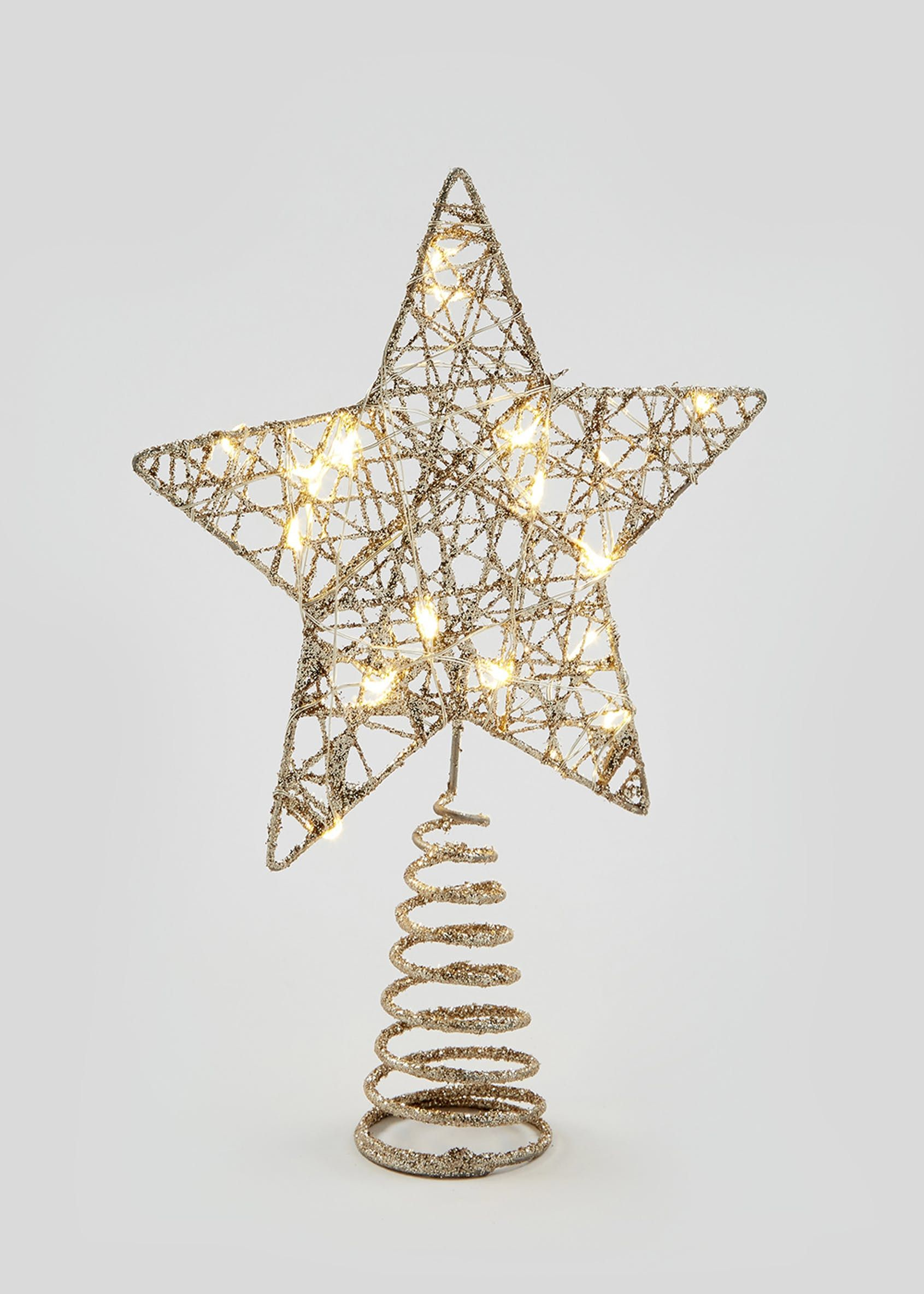 Led Star Tree Topper 26cm X 18cm X 5cm Gold Christmas Tree Star Topper Star Tree Topper Christmas Tree Toppers