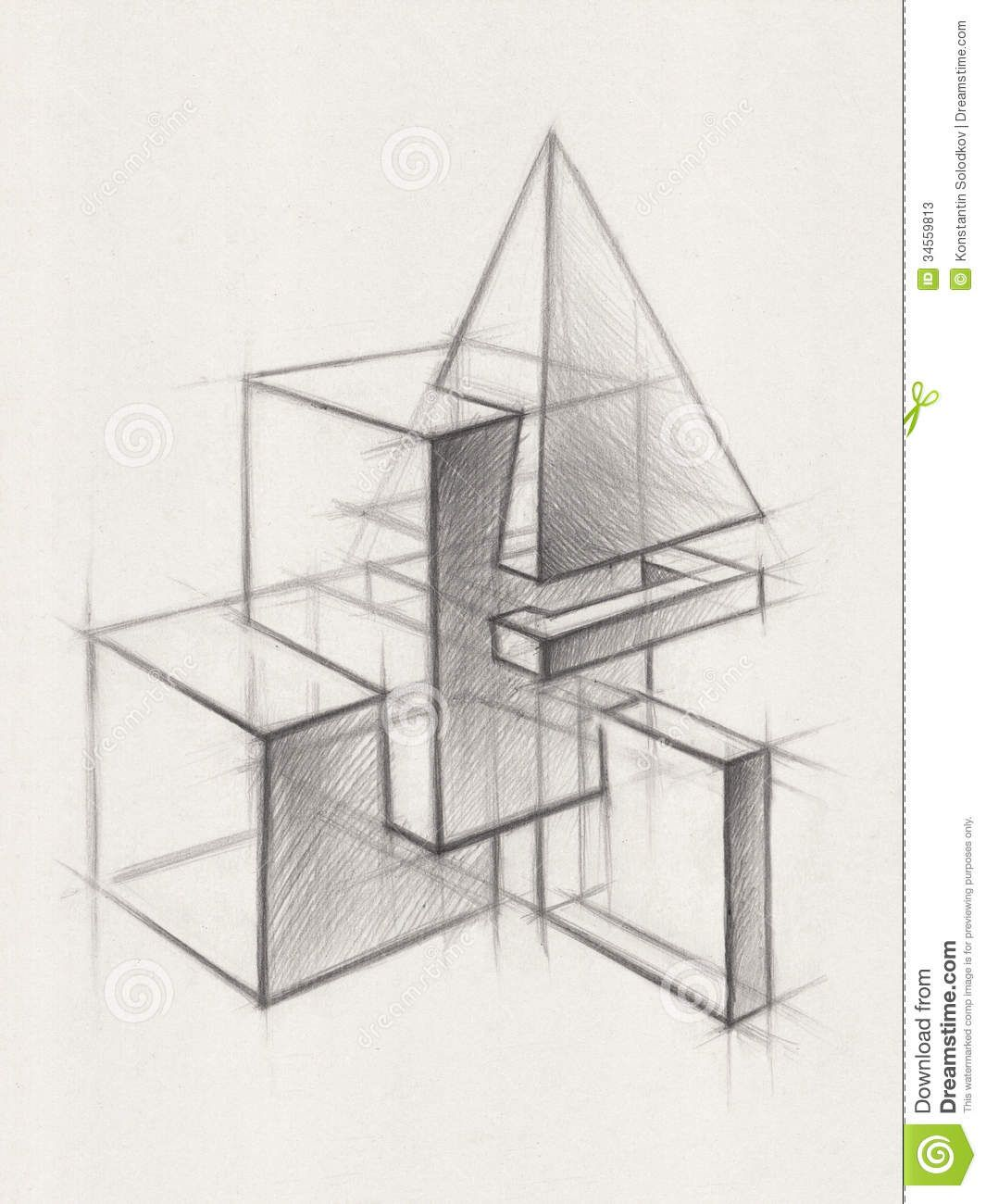 Photo About Illustration Of Geometric Shapes It Is A