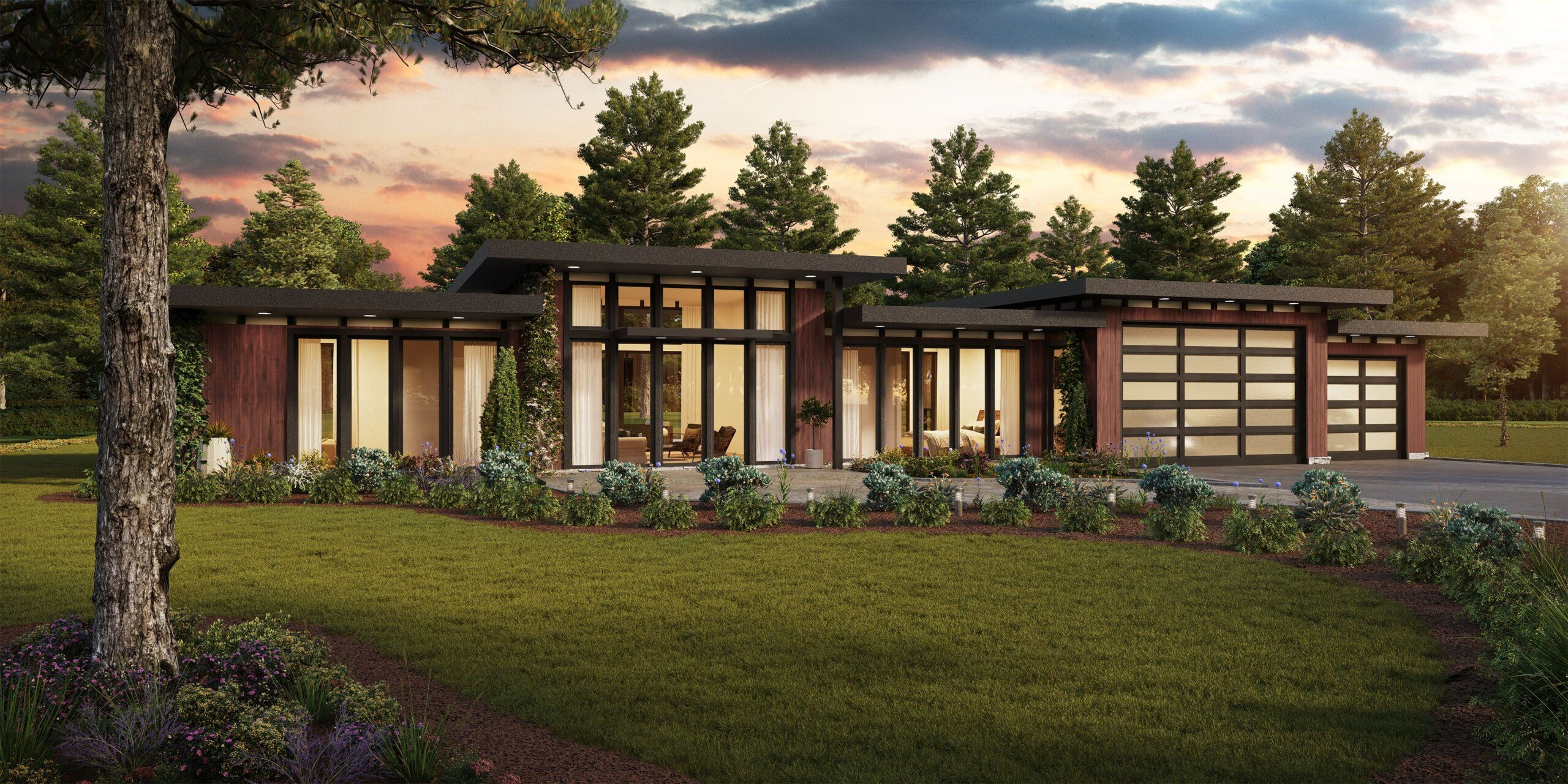 Mika House Plan One Story Modern Home Design With Photos Contemporary House Exterior Modern House Plans House Plans