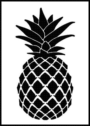 Pineapple airbrush stencil template paint wall home decor for Wall art templates free