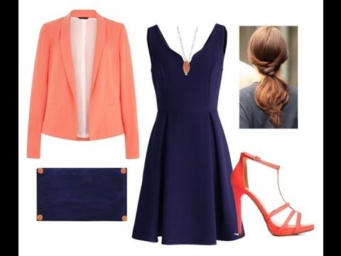 Como Combinar Un Vestido Azul Oscuro Cute Party Outfits Fashion Coral Outfit