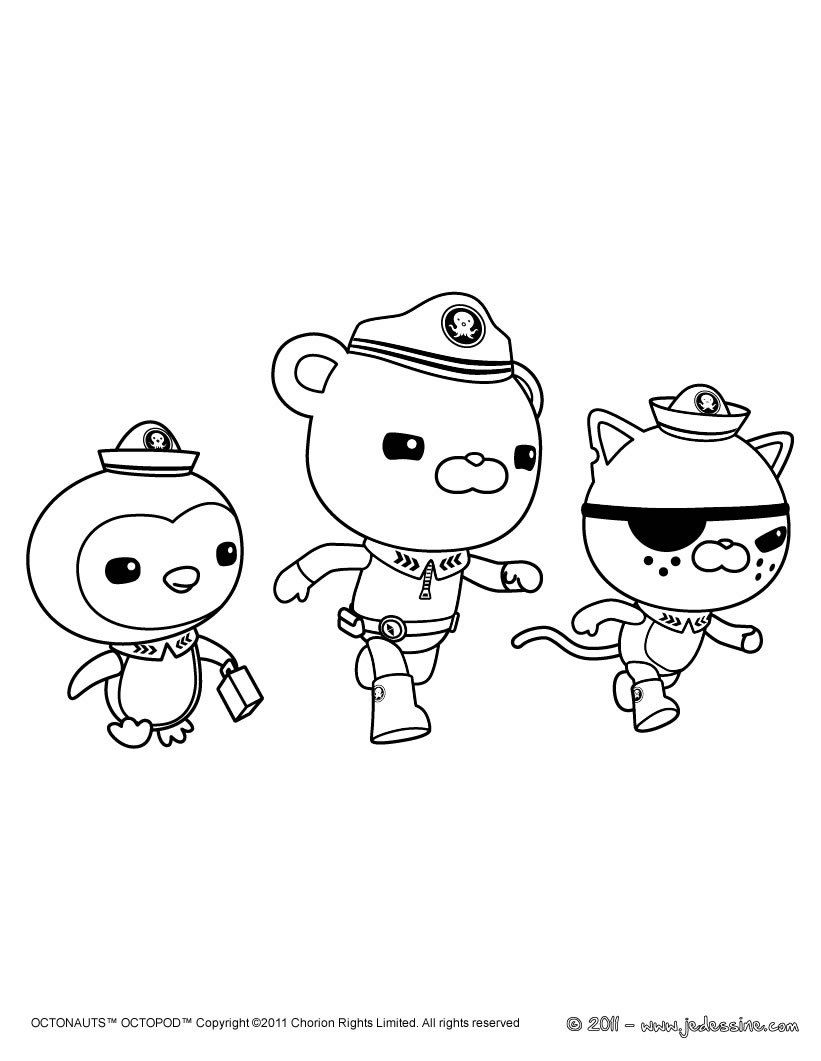 Free Coloring Pages Of Peso Octonauts