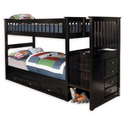 Discovery World Furniture Stair Stepper Twin Over Twin Bunk Bed