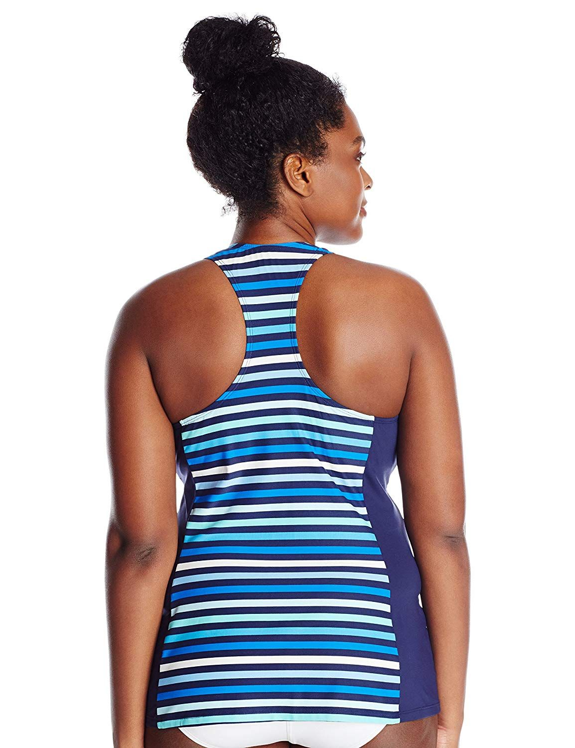 282ed0882cfed BEACH HOUSE WOMAN Women s Plus-Size Rockland Stripe Erinna Racerback Tankini    More info could be found at the image url. (This is an affiliate link)    ...