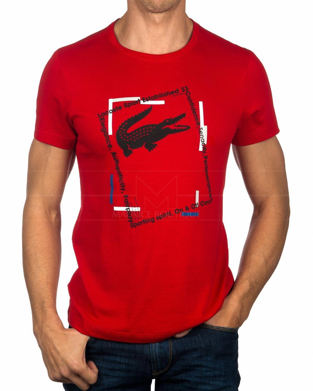 1e4b133d59d4a Camisetas Lacoste Roja - Tenacity em 2019