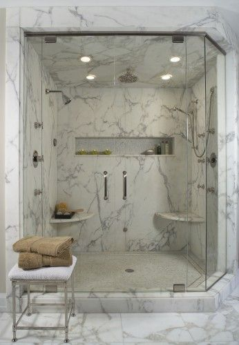 Bathroom Design Ideas Pictures Remodel And Decor White Marble Shower Marble Showers Modern Shower Design