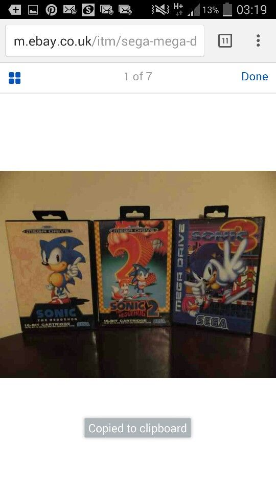 Sonic collection - collect those Rings and destroy Dr Robotnik Ha ha ha