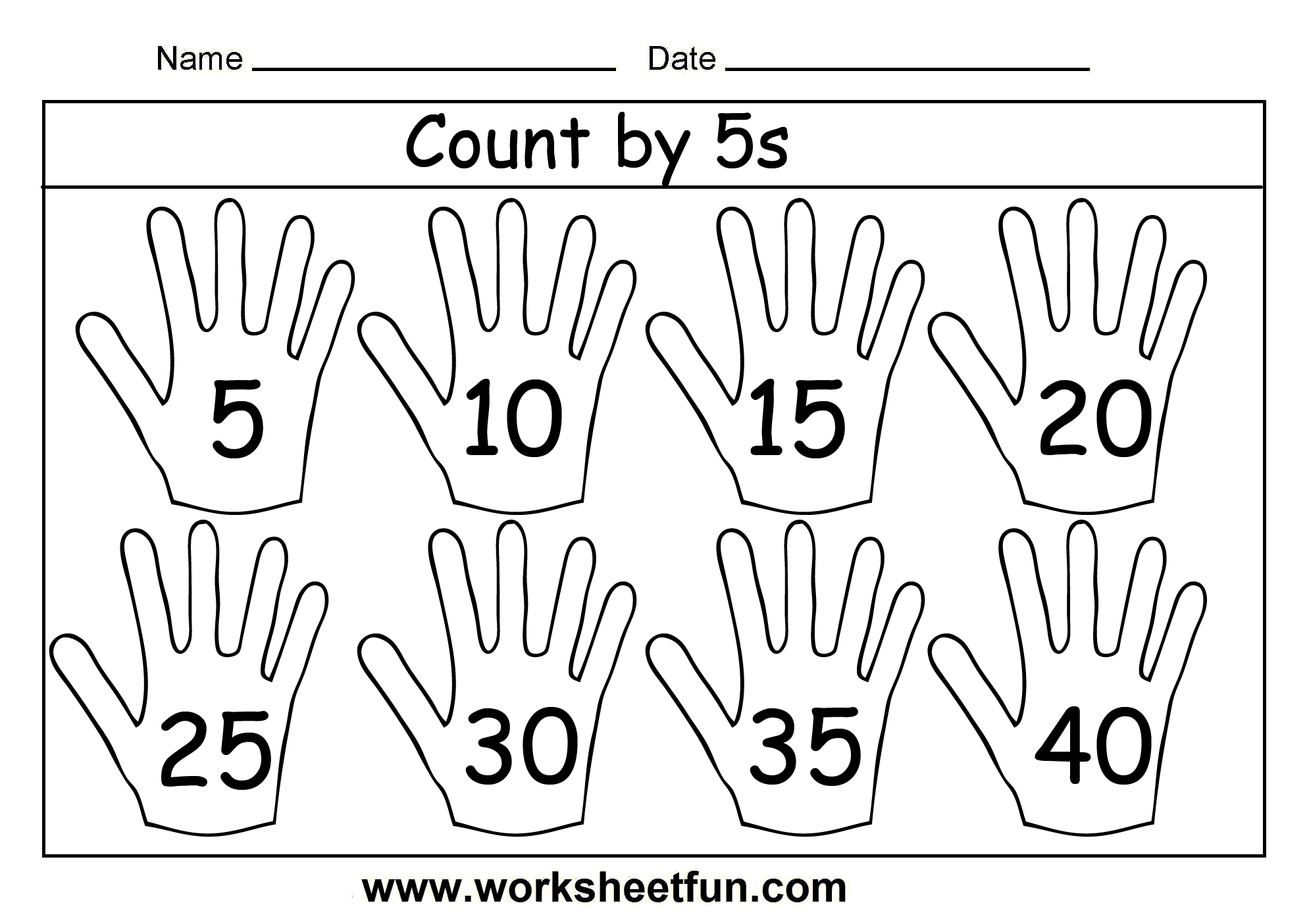 Count By 5s 3 Worksheets