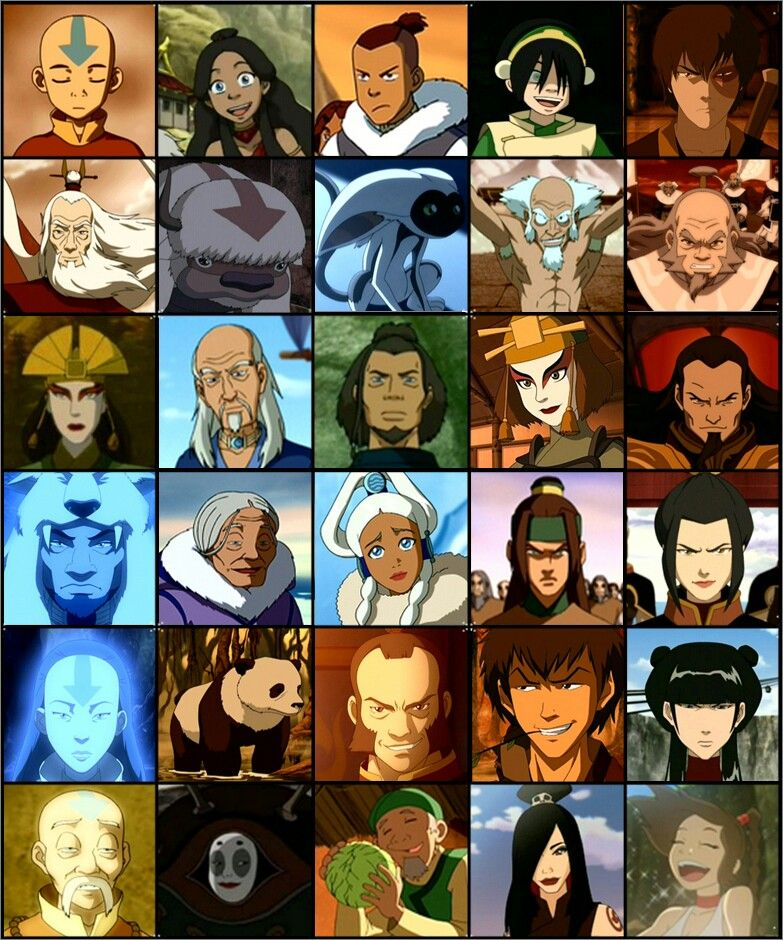Atla all this characters are epic d avatar the last