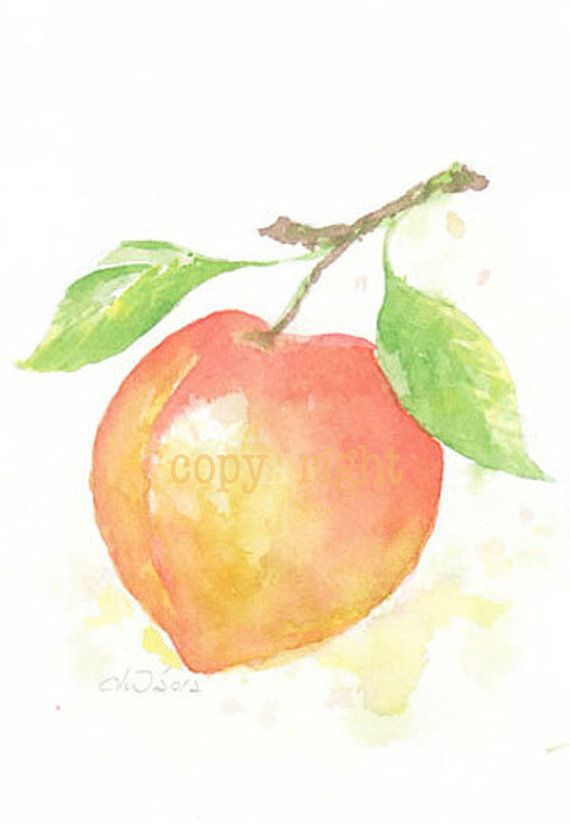 Fruit Fruit Print Giclee Art Watercolor Watercolor Painting
